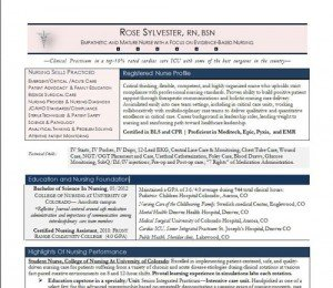 nurse resume sample mini